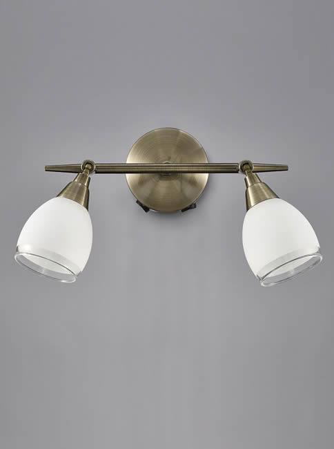 Wall Light Double Spotlight : Franklite Lutina double wall light