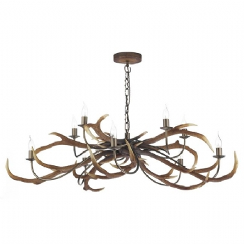 David Hunt Stag 10 Light Pendant