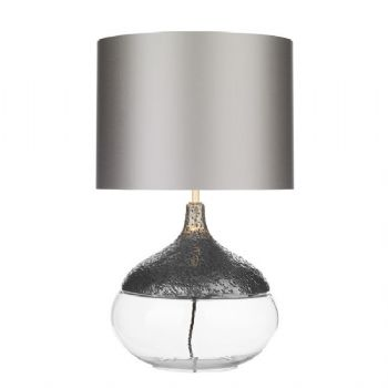 David Hunt Teardrop table lamp pewter TEA0167