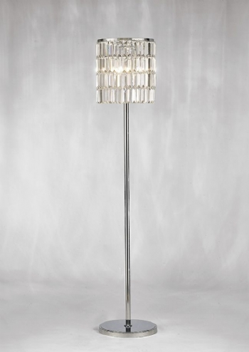 Diyas Torre curtain floor lamp il30178
