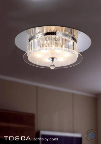 Diyas Tosca 6 light flush