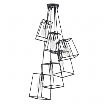 Dar Lighting Tower 6lt cluster pendant chrome tow0650