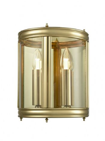 Franklite WB588 wall light brass