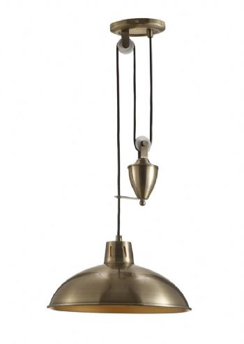 Deco Wellington Pendant Antique Brass D0147