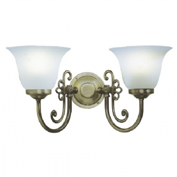 Dar Lighting Woodstock double wall light WOO0985