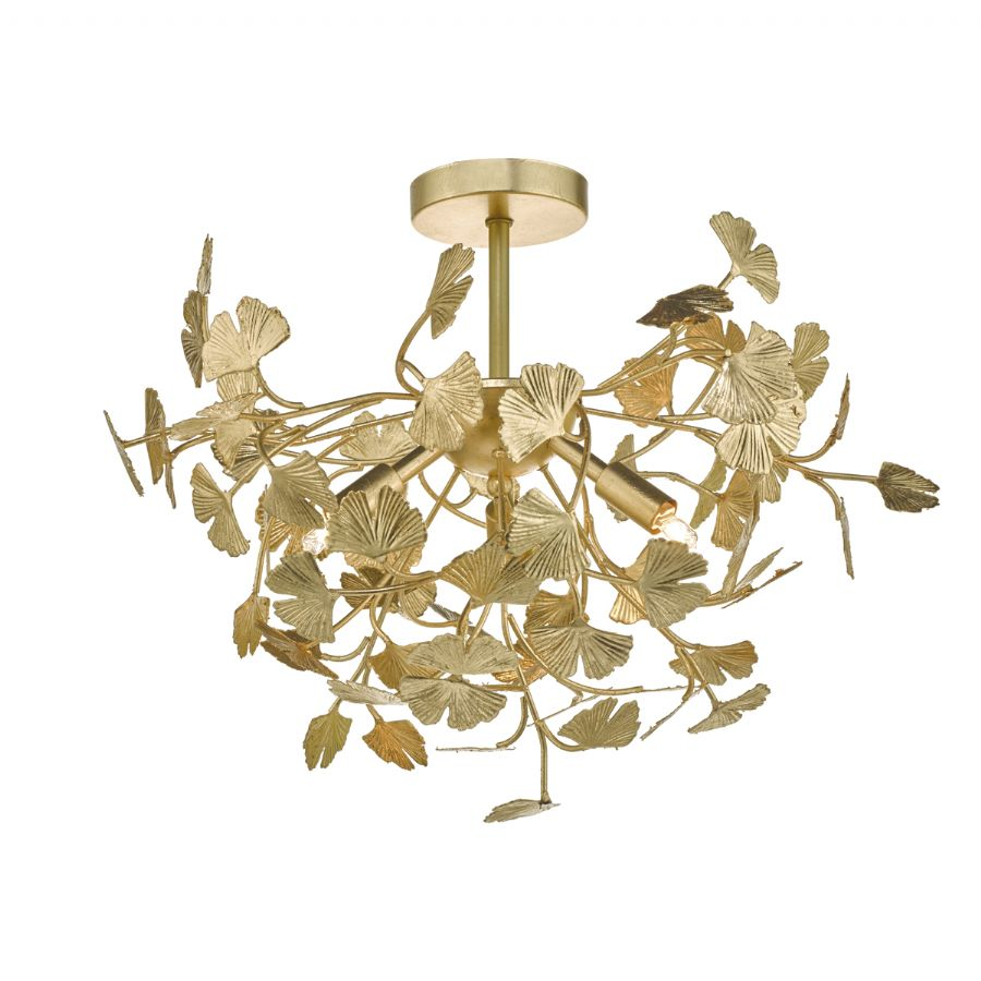 Dar Lighting Yadira 4 light semi flush YAD0435